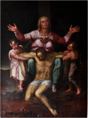 Riproduzione pittorica Pietà