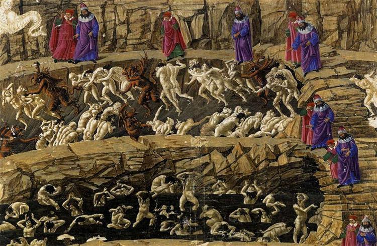 Botticelli canto XVIII Inferno