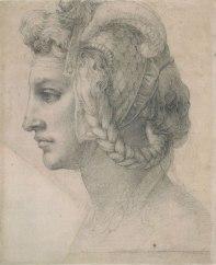 """Ritratto """"testa divina"""" di Michelangelo"""