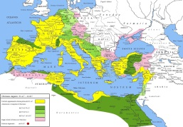 Le conquiste di Augusto fino al 6, prima della disfatta di Varo nella selva di Teutoburgo.