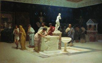 Circolo di Mecenate, dipinto di Stefano Bakalovich, 1890, Galleria Tret'jakov, Mosca