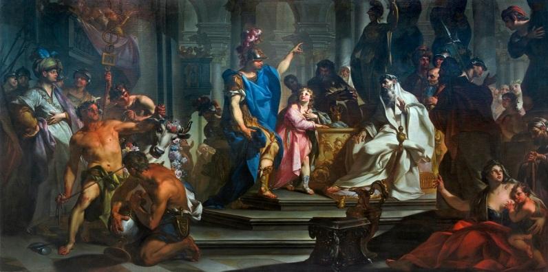 Claudio Francesco Beaumont, Annibale giura odio ai Romani (olio su tela, 330 × 630 cm del XVIII secolo)