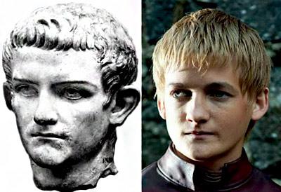 Caligola (12 d.C.-41 d.C.), qui è molto simile al famoso attore Jack Gleeson