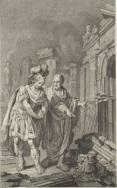 Scipione Emiliano e Polibio davanti alle rovine di Cartagine
