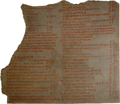 Lapide con parte del testo dell'editto sui prezzi massimi di Diocleziano, al Pergamonmuseum di Berlino