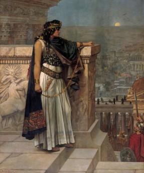 Herbert Schmalz - L'ultimo sguardo della regina Zenobia su Palmira durante l'assedio romano.