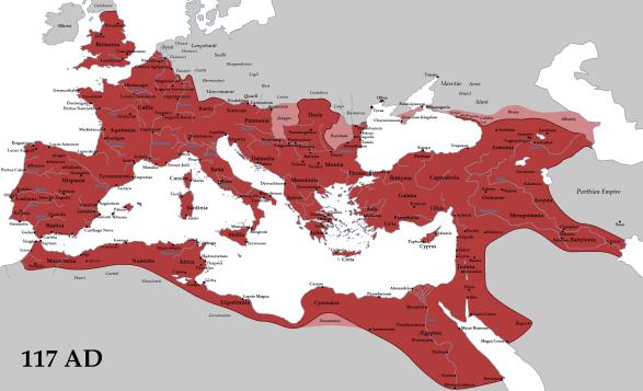Massima espansione di Roma sotto Traiano (117)