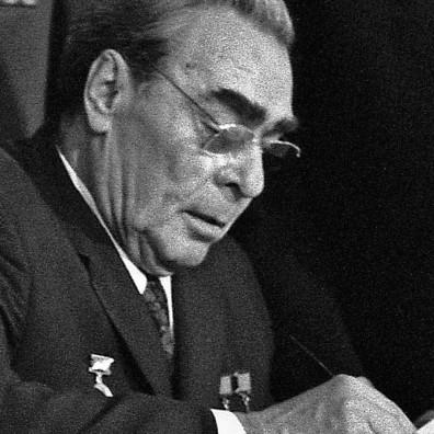 Breznev alla firma degli accordi di Vladivostok del 1974