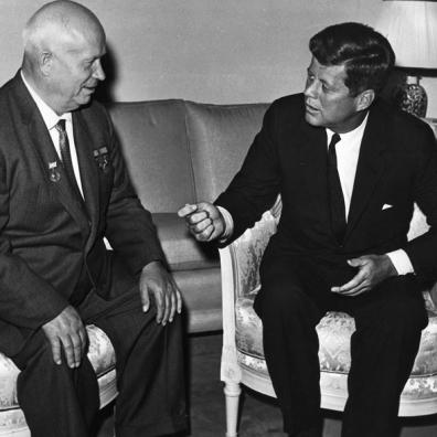 Chruščëv e John F. Kennedy a Vienna nel Giugno 1961