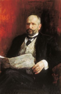Pëtr Arkadevič Stolypin ritratto da Ilja Repin nel 1910