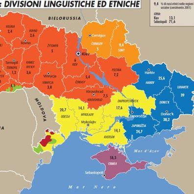 Mappa Geopolitica della Ucraina (fonte: Limes)