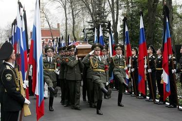 Il funerale celebrato il 25 aprile 2007