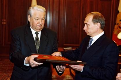Passaggio di consegne El'cin e Putin