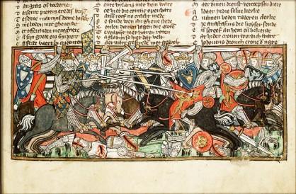 Battaglia fra Clodoveo ed i Visigoti - Biblioteca Nazionale Olandese