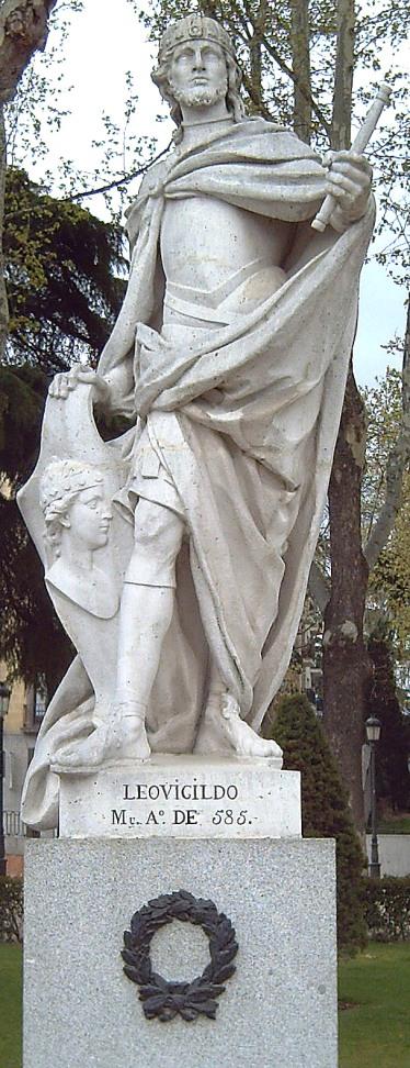 Statua di Leovigildo nella Plaza de Oriente[1], di Madrid (F. Corral, 1750-53)
