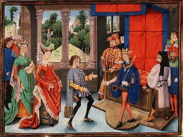 Sant'Uberto di Liegi offre i suoi servizi a Pipino di Heristal.